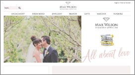 Max Wilson Diamond Jeweller Website